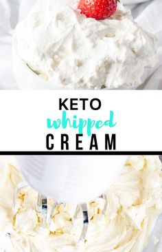 Want to take your low-carb desserts to the next level? Keto Whipped Cream is the perfect way to do it. It is deliciously sugar-free, without a smidgen of sacrifice. Give it a try, and I think you will agree. Keto Dessert Easy, Dessert Recipes, Keto Whipped Cream, Low Carb Desserts, Low Carb Keto, Sweet Recipes, Sugar Free, Cravings, Sweet Tooth