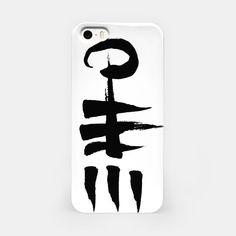 Zang White iPhone Case #design g#minmal #tattoo #bw #sign