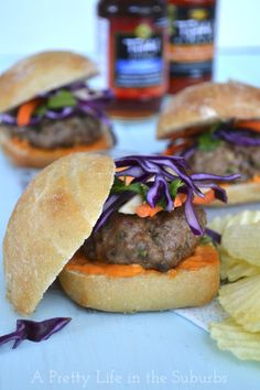 #TKLucky7 #Recipe Challenge #Recipe1 #Thai Pork #Sliders with Red #Curry Aioli  #ThaiKitchen Products Used: Spicy Thai Chili Sauce, Fish Sauce, Red Curry Paste @Jo-Anna @APrettyLife #Calgary #SimplyAsian