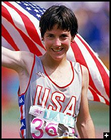 Joan Benoit, Won Gold at the Olympic's First Women's Marathon in 1984, shattering the myth that women couldn't run 26 miles.