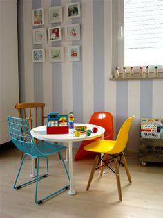 Am runden Tisch , Tags Habitat + Ikea + Bilderwand + Eames + Spielen + Sebra