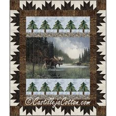 Moose Hunting, Pheasant Hunting, Turkey Hunting, Archery Hunting, Carpe Diem, Moose Quilt, Wildlife Quilts, Lap Quilt Patterns, Fabric Panel Quilts