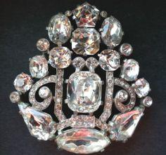 Vintage Eisenberg Original Crystal Brooch Pin | eBay