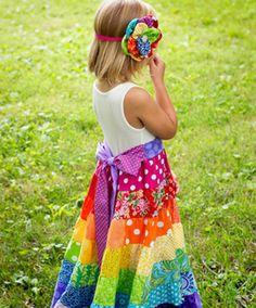 25 Fun Flower Girl Dresses for Your Alternative Wedding - Rainbow Flower Girl Dress Etsy
