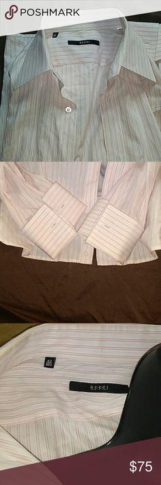 Gucci men's shirt Pink pinstripe Gucci shirt. In very good condition Gucci Shirts Dress Shirts