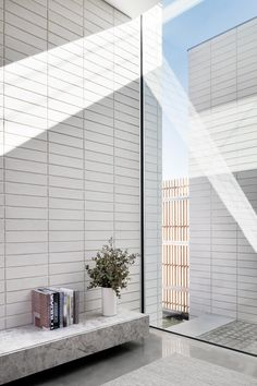 Edsall Street Uses Brutalist Materiality And Form To Carve Interior Spaces That Celebrate Structure Concept Architecture, Interior Architecture, Minimalist Architecture, Japanese Architecture, Helsinki, Masonry Wall, Brick Facade, Brick Houses, Street House