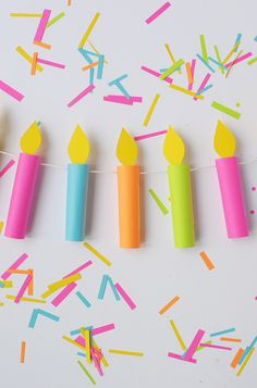 Make this birthday candle garland | aliceandlois.com