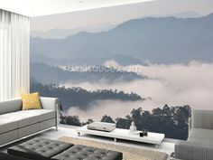 The Sea of Mist wall mural living room preview