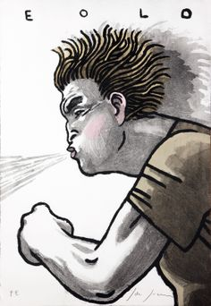 #Javier #de #Juan TÍTULO: Eolo • TÉCNICA: Aguafuerte iluminado a mano • TAMAÑO PAPEL/PLANCHA (cms):54x74/54x74 • www.a-cuadros.com