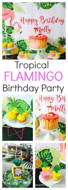 Look no further for a fabulous flamingo birthday party. It's tropical, it's fun, it's bright and cheerful and it's sure to have the kids stand in wonder. Summer Birthday, Birthday Party Games, Luau Party, Birthday Party Decorations, Party Favors, Birthday Bash, Girl Birthday, Happy Birthday, Flamingo Party