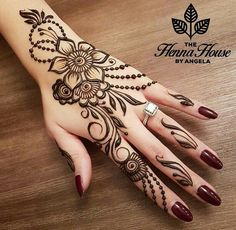 Simple Mehndi Design Images Gallery - Simple Mehndi Designs for Hands Images Easy to Draw for Beginner. new mehndi design that suitable for beginner Henna Hand Designs, Mehndi Designs Finger, Mehndi Designs For Fingers, Mehndi Design Images, Best Mehndi Designs, Beautiful Mehndi Design, Simple Mehndi Designs, Henna Tattoo Designs, Tattoo Ideas