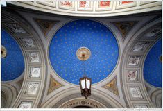 Athens, Greece. Stars on ceiling of the church of Aghia Irene