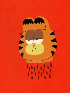 """""""Garfield taught me how to hate."""" Painting by Jack Teagle"""