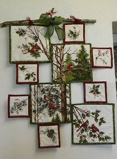 Creative use of a fabric panel with motifs in differently sized boxes Quilting Digest...