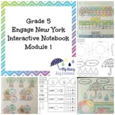 Are you looking for a way to bring the Engage New York curriculum to life? This resource is an important companion to fifth grade Engage New York Module 1. Please note: This product only includes the interactive notebook pieces. It does not include any teacher resources or extra exit tickets.Engage New York's math program is available for free online and covers all of the standards for 5th grade math under Common Core.