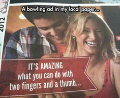 Funny bowling ad.