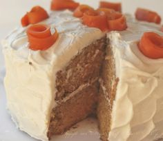 Carrot Cake with Cinnamon Brown Sugar Cream Cheese Frosting--no nuts, pineapple or coconut!