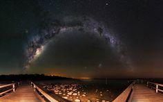 Milky Way & Thrombolites - Lake Clifton Western Australia (1920 x 1200)