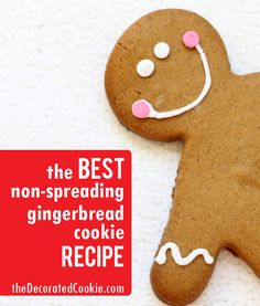 BEST non-spreading gingerbread cut-out cookie recipe