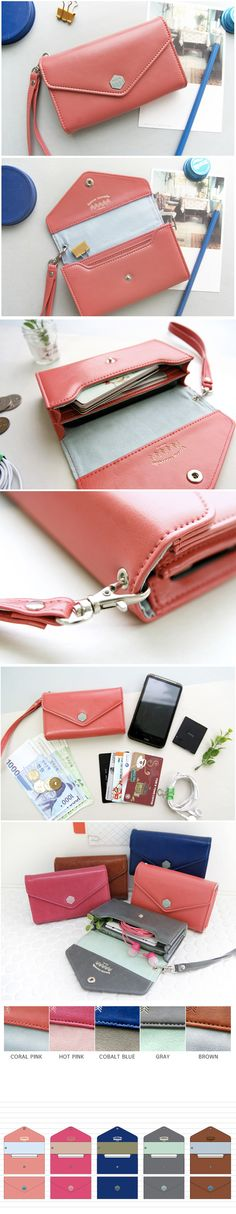 Poste Smartphone Wallet - Coral Pink  lt 3 Leather Art 77b974a56cc92