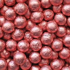Pink Foil Chocolate Balls from Temptation Candy! Perfect for wedding candy buffets. Candy Crystals, Pink Starburst, Jelly Belly Beans, Pink Themes, Wedding Candy, Pink Parties, Rock Candy, Everything Pink, Pink Wallpaper