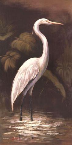 ArtWall Kilians Morning Egret Removable Wall Art Mural 18 x 24