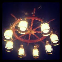 Ship wheel lighting #nautical #home