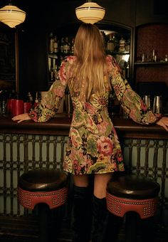 vogue a rolling stone (ggypsychedelicc: Reformation // Cocktail. 60s And 70s Fashion, 70s Vintage Fashion, 70s Inspired Fashion, Boho Fashion, Club Fashion, 1950s Fashion, Vintage Clothing, Style Fashion, 70s Outfits