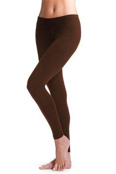 Solid Jersey Leggings - Brown
