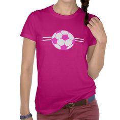pink soccer ball tee