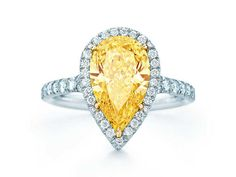 Tiffany Pear shaped - I would like this with a Morganite pink stone!!!