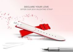 Declare your #love, offer our 2014 Valentine #Strap. Call +41 21 580 1833 to order now #ValentinesDay #LoveIsInTheAir