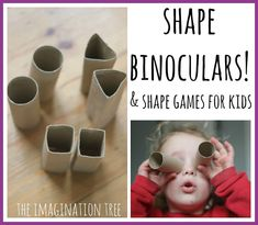 shape binoculars and shape hunting maths game for kids-->or just turn into binoculars for a letter hunt through the school