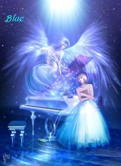 colorful angel pictures | Pink, red, yellow, green, blue, purple, black, and white. All are ...