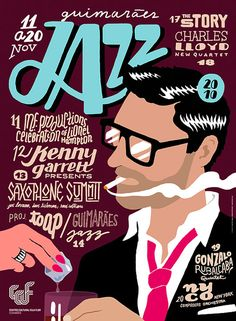 #houseofdesign | Guimarães Jazz 2010 Festival Posters, Designed by Martino & Jaña