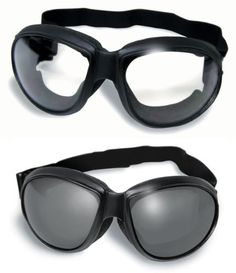 Red Baron Motorcycle Aviator 2 Goggles For Day and Night Use Super Dark Lens and Clear Mirror Lens
