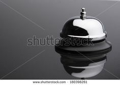 Service Bell on grey background  - stock photo