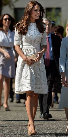 Kate Middleton wows in another fancy frock on the royal tour [AP]