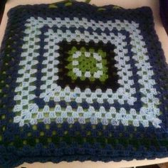 Crocheted seat cushion