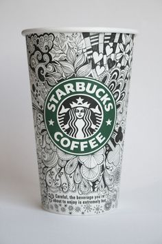 Another Starbucks cup according to Johanna Basford