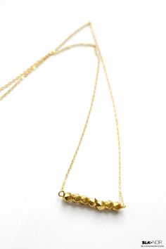BLK AND NOIR - Gold Nugget #Necklace, $25.00 (http://www.blkandnoir.com/gold-nugget-necklace/) #Jewelry #fashion #style