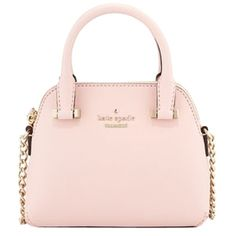 Pre-owned Kate Spade New Mini Maise Cedar Street Leather Satchel Black... ($158) ❤ liked on Polyvore featuring bags, handbags, ballet slip pink, mini satchel handbags, kate spade handbag, pink purse, satchel handbags and black leather handbags
