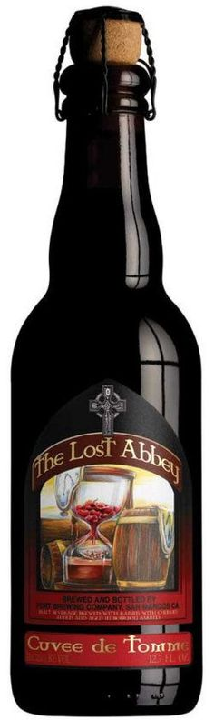 Lost Abbey Cuvee de Tomme (Sour Red/Brown) -- Red-brown, beige head. Cherry nose. Huge in flavour; tart, cherry, some malt, burnt sugar. Very layered. Great balance for a wild sour. Hides ABV well... Lovely.