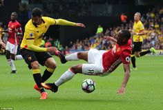 Anthony Martial believed he had been fouled by Miguel Britos during the…