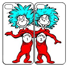 Thing 1 and thing 2 Samsung Galaxy S3 S4 S5 Note 3 case, iPhone 4 4S 5 5s 5c case, iPod Touch 4 5 Couple Case
