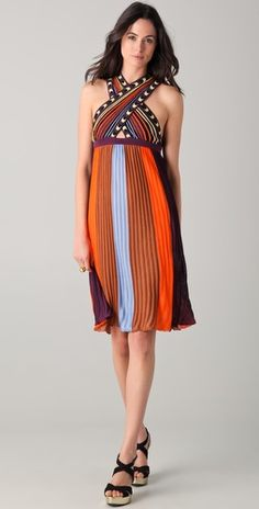 Just died and went to Missoni Heaven....M Missoni Cross Front Knit Dress