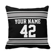 Football Jersey with Custom Name/Number Pillow