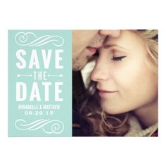Vintage Typography Save the Date Announcement