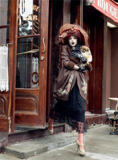 "Fashion screen €"" Paris, Jetaime (Steven Meisel, Vogue US, September, 2007, Coco Rocha, Guinevere Van Seenus, Caroline Trentini, Sasha Pivovarova,..."