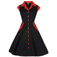 Pinup Vintage Inspired Shirt Dress